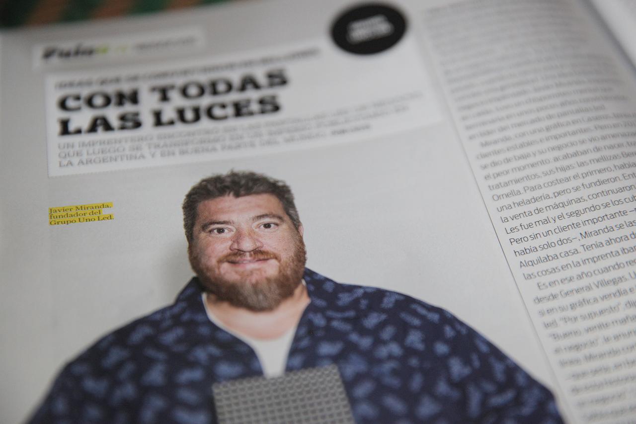 Javier Miranda, CEO de Grupo Uno LED en Revista Brando de Septiembre