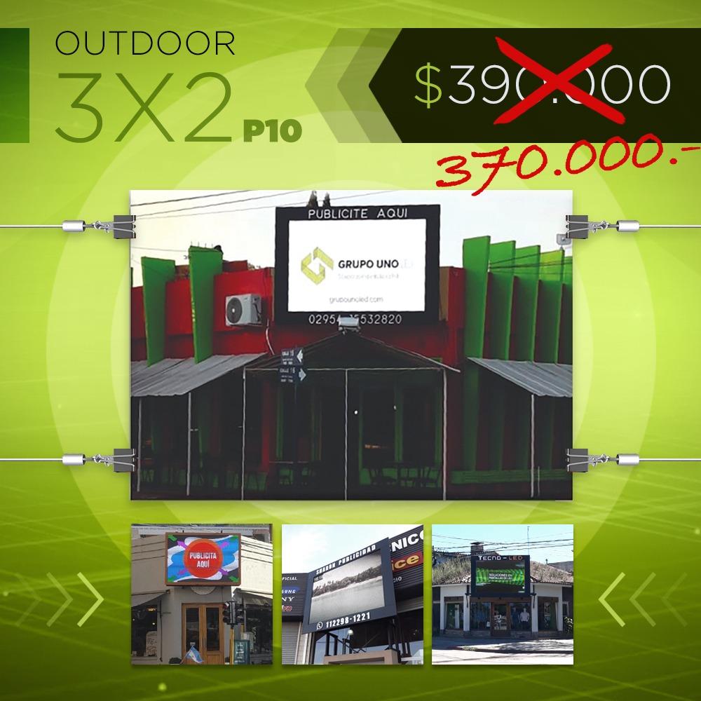 Pantalla Outdoor 3x2 P10 con una bonificación de 20 mil pesos durante octubre