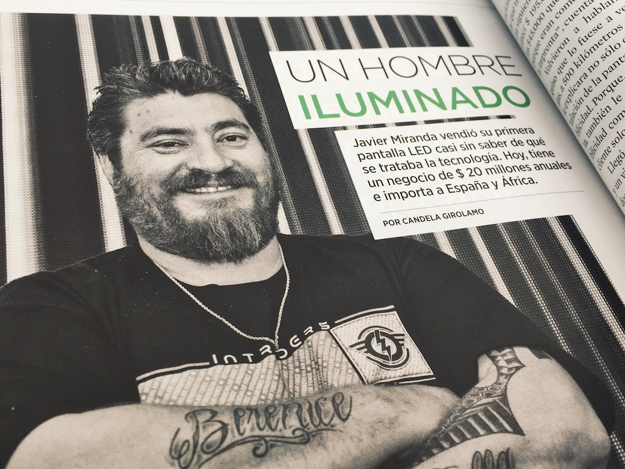 Nota a Javier Miranda, dueño de Grupo Uno LED, en Revista Forbes de octubre.