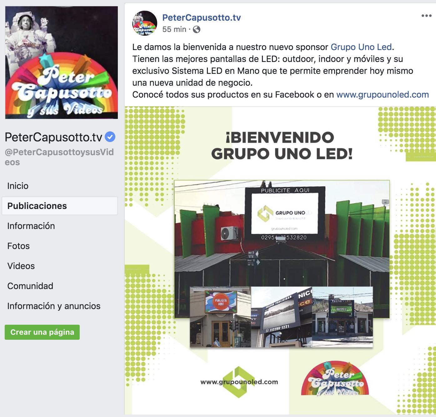 Grupo Uno LED nuevo sponsor del reconocido programa de Diego Capusotto