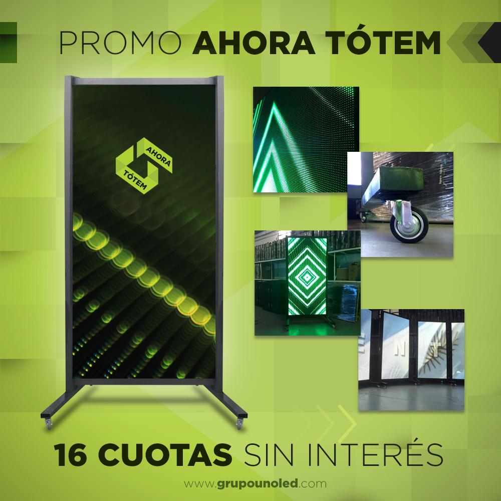 Ahora podés tener tu Tótem Indoor 2x1 P5 en 16 cuotas sin interés.