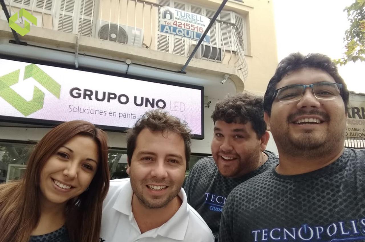 Novo Medios, representante oficial de Grupo Uno LED en la región de Cuyo.