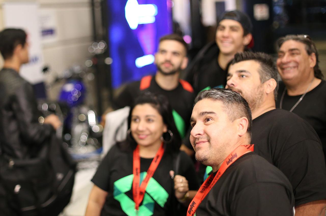 Gran despliegue del equipo de Grupo Uno LED en el 15ª Tattoo Show en La Rural.