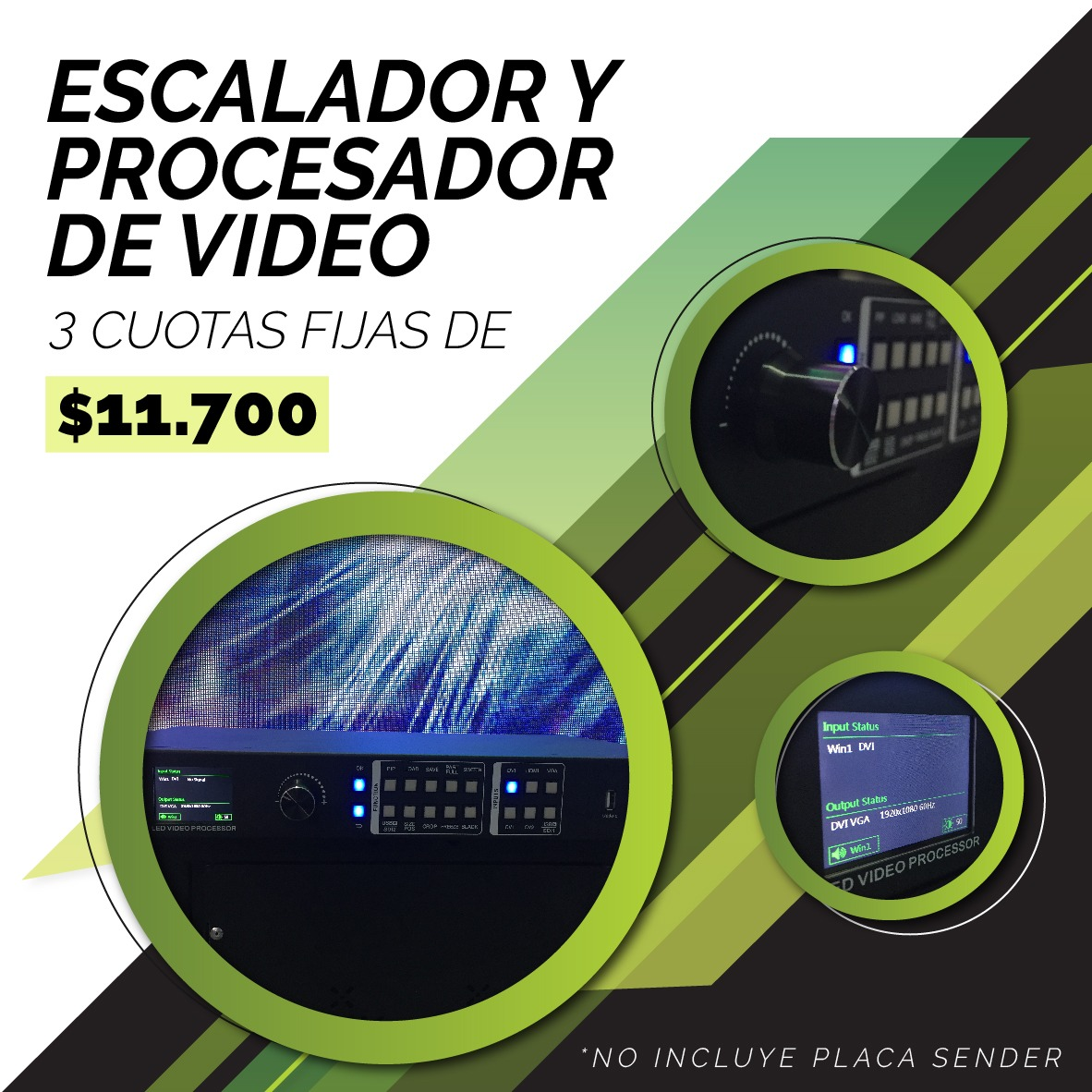 Promo escalador y procesador de video para pantalla LED.