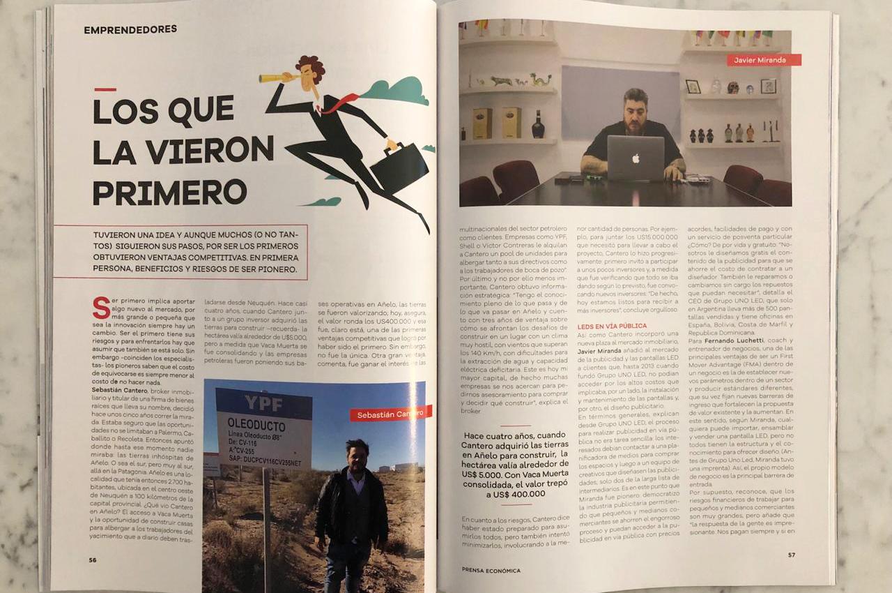 Javier Miranda en el nuevo número de la revista Prensa Económica.