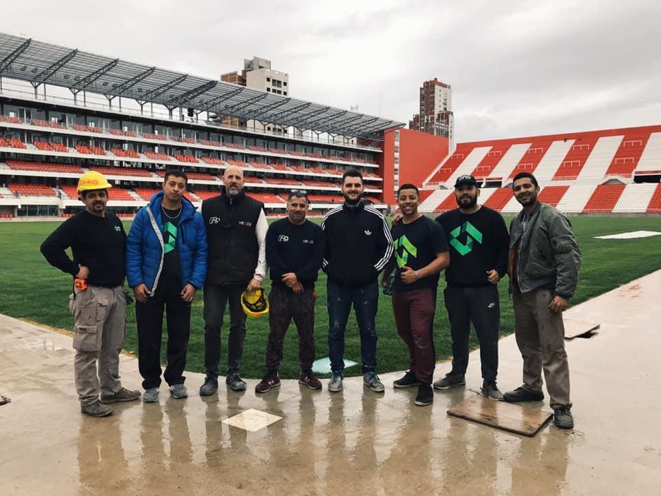 Gran trabajo del equipo de Grupo Uno LED en el Club Estudiantes de La Plata.